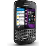 BlackBerry Q10 Black Angular Shot